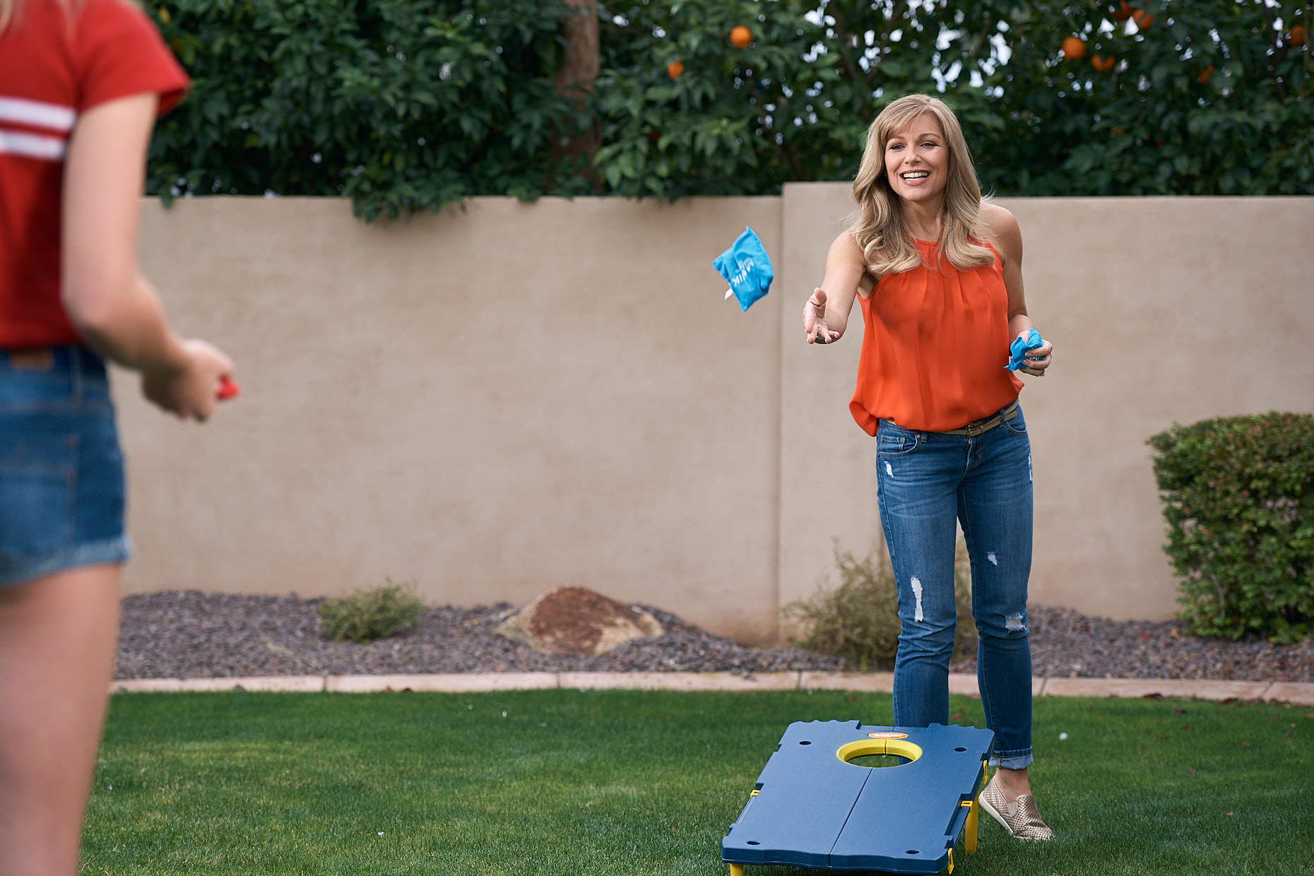 Jason Tracy - Advertising Photographer Kansas City - Mother Daughter Beanbag Toss