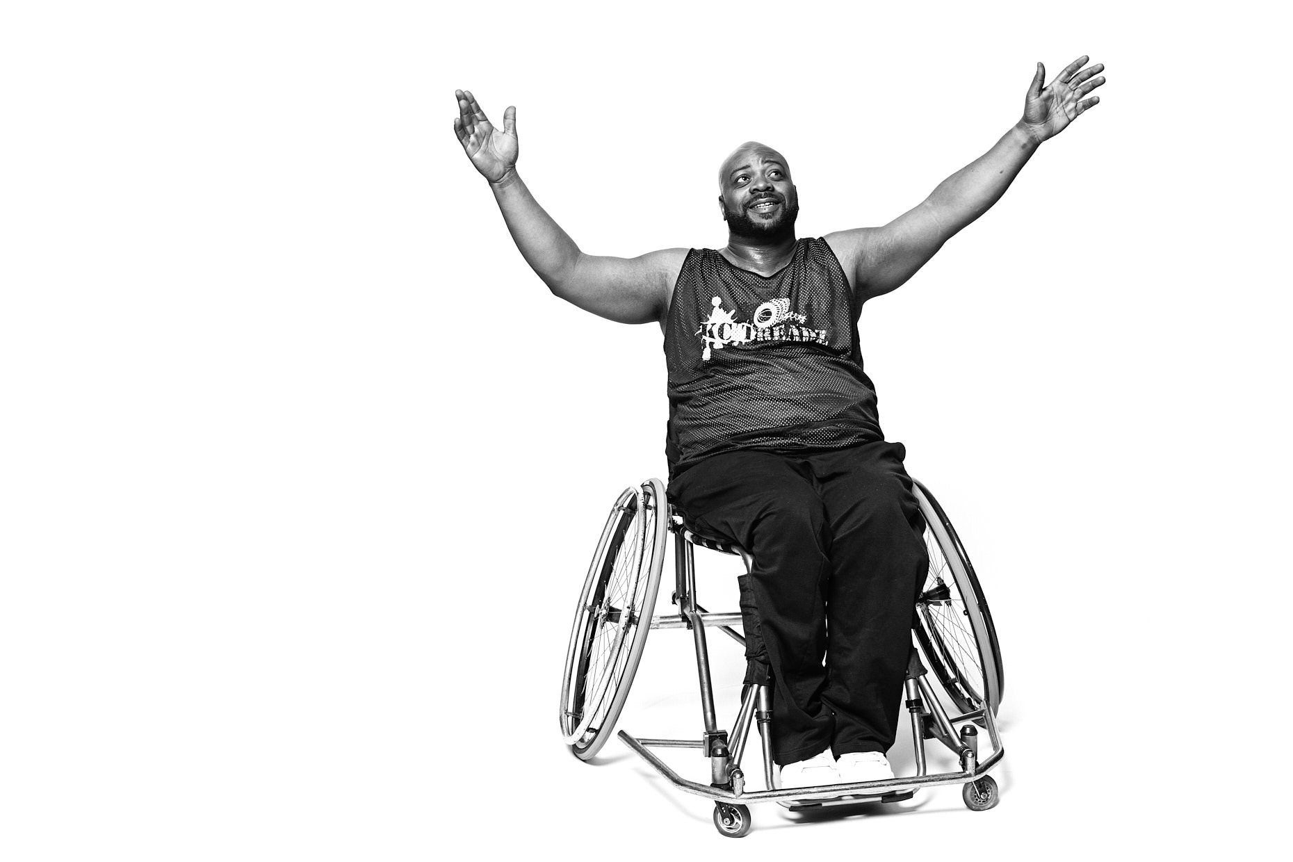 Jason Tracy - Location Portrait Photographer Kansas City - Michael Minor Wheelchair Basketball Player
