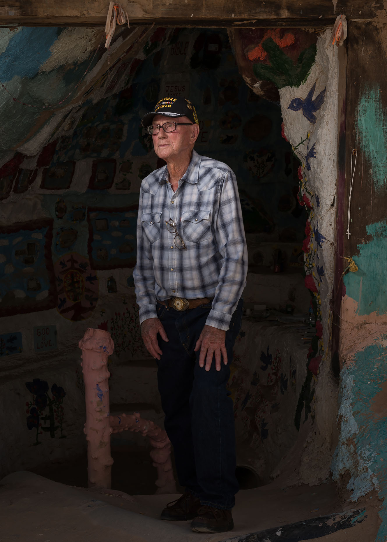 WWII Veteran. Salvation Mountain. Niland, CA.