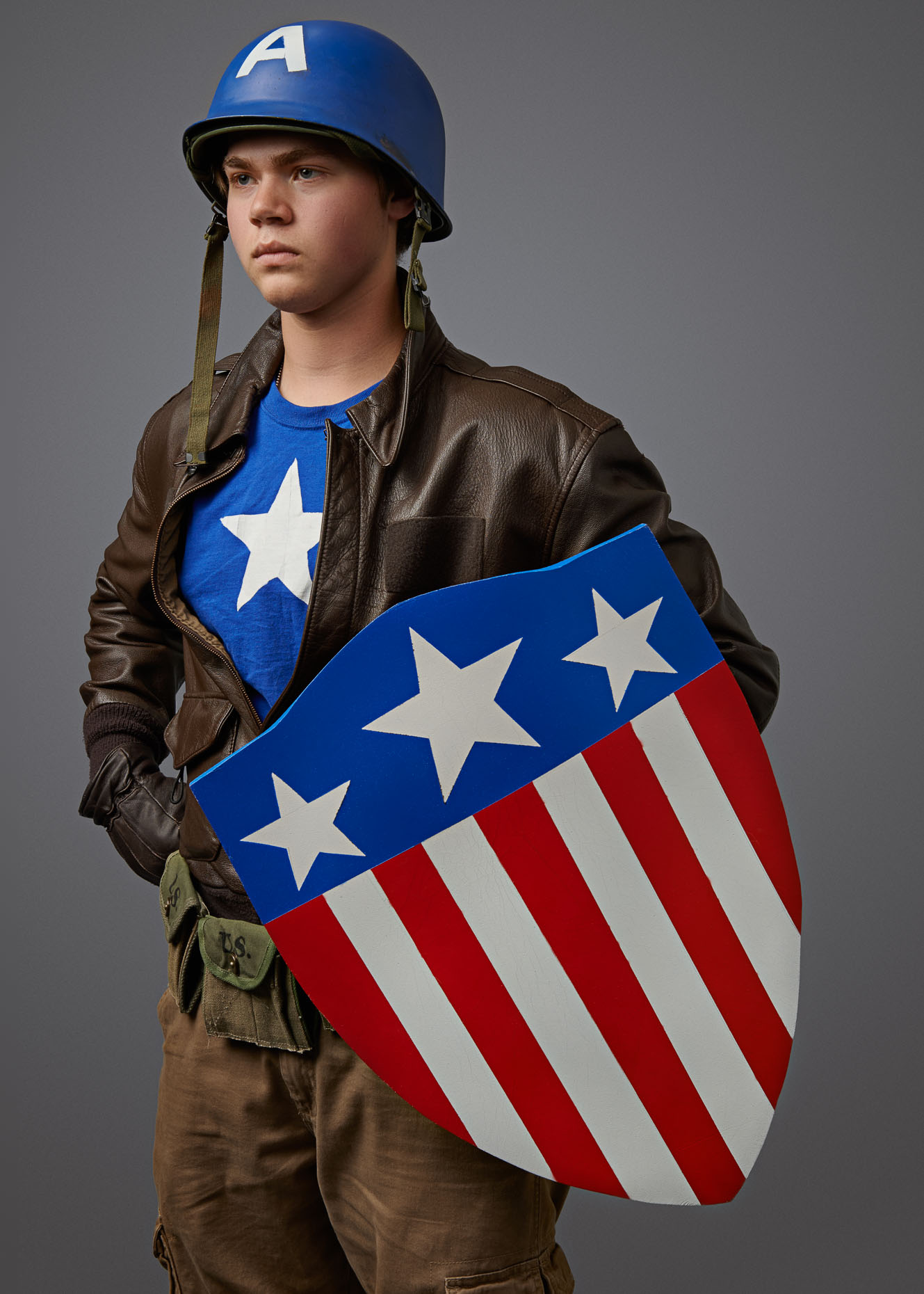 Cosplay Portrait Retro Capt America